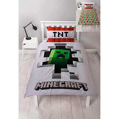 Edredon cama minecraft