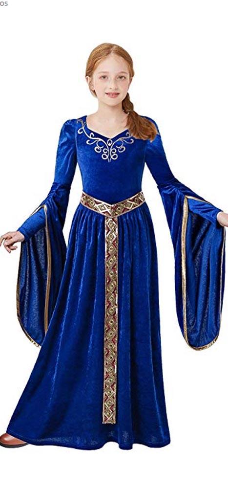 Princesa niña azul