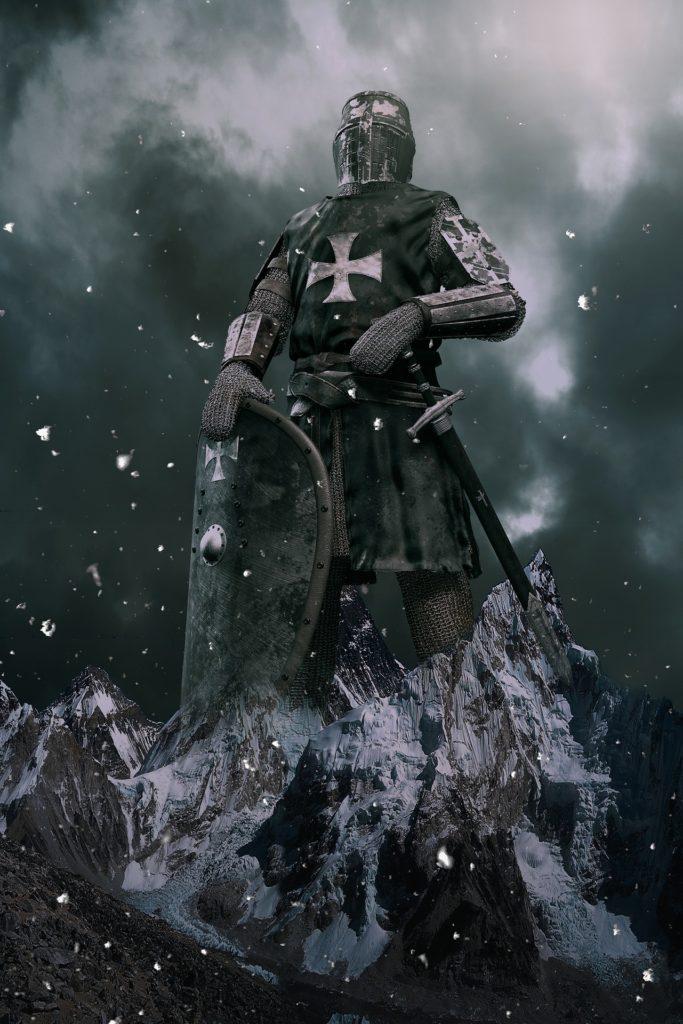 Caballero templario - Característica de la Época Medieval